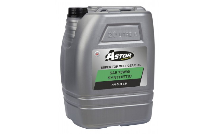 ASTOR SUPER TOP MULTIGEAR OIL SYNTHETIC SAE 75W90 API GL/4 E.P.