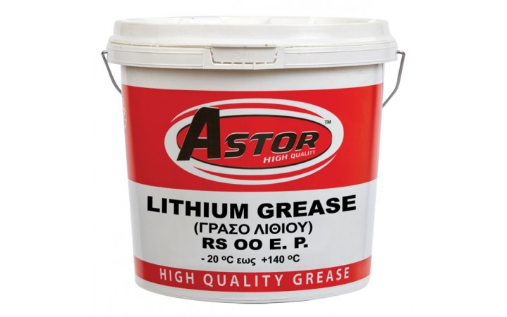 ASTOR LITHIUM GREASE NLGI RS 00 E.P.