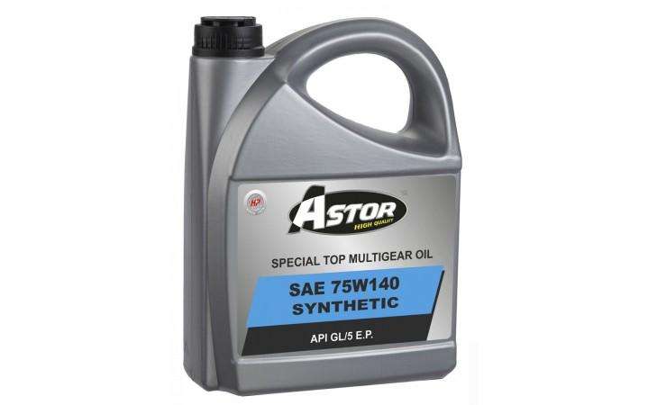 ASTOR SPECIAL TOP MULTIGEAR OIL SUNTHETIC SAE 75W140 API GL/5 E.P.