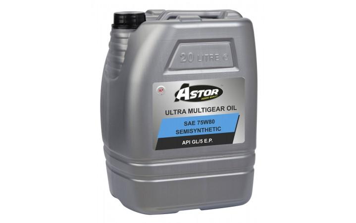ASTOR ULTRA MULTIGEAR OIL SEMISYNTHETIC SAE 75W80 API GL/5 E.P.
