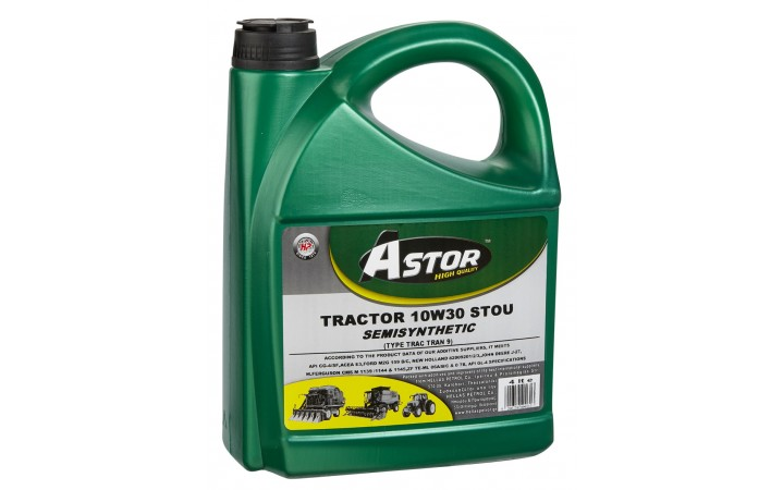 ASTOR TRACTOR 10W30 TYPE TRAC TRAN 9 STOU SEMISYNTHETIC