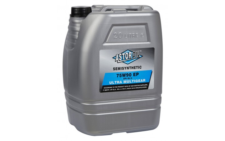 ASTOR ULTRA MULTIGEAR OIL SEMISYNTHETIC SAE 75W90 API GL/5 E.P.
